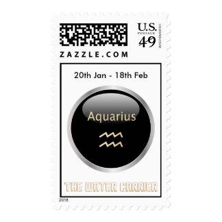 Aquarius astrology star sign postage stamp