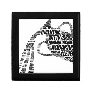 Aquarius Astrology Zodiac Sign Word Cloud Gift Box