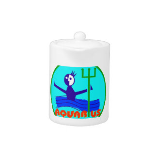 Aquarius Badge Teapot