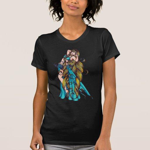 Aquarius Belly Dancer art Tee Shirts