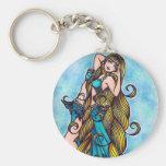 Aquarius Belly Dancer Keychains