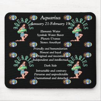 Aquarius Birth Sign Zodiac Mouse Pad