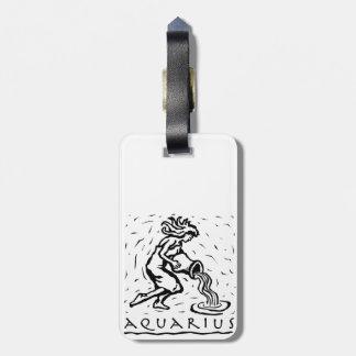 Aquarius Birthday Year Astrological Zodiac Sign Bag Tag