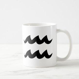 Aquarius black white mug