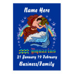 Aquarius Blog Card View Notes Large Business Cards (Pack Of 100)