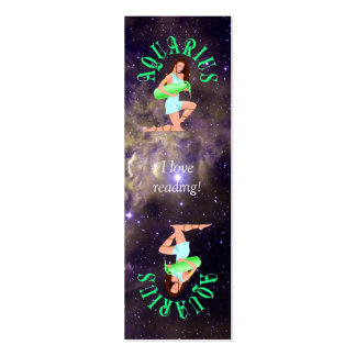 Aquarius Bookmark Card Double-Sided Mini Business Cards (Pack Of 20)