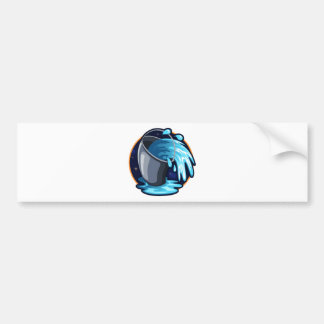 Aquarius Car Bumper Sticker
