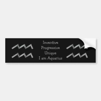 Aquarius Bumper Sticker Car Bumper Sticker
