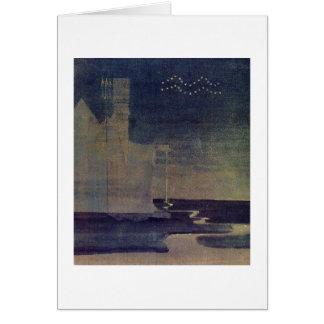 Aquarius by M.K. Ciurlionis, 1907 Greeting Cards