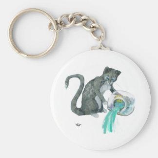 Aquarius Cat Keychain