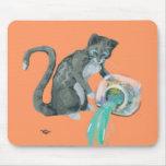 Aquarius Cat Mouse Pad