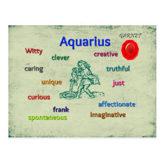 Aquarius Characteristics Zodiac Card at Zazzle