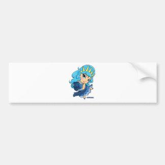 Aquarius Chibi Bumper Sticker