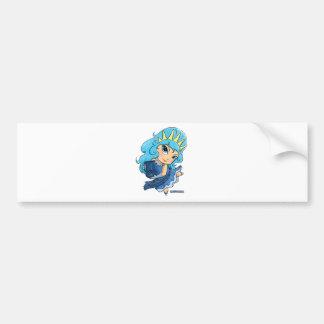 Aquarius Chibi (distressed) Bumper Stickers