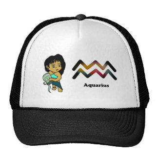 Aquarius chibi trucker hats