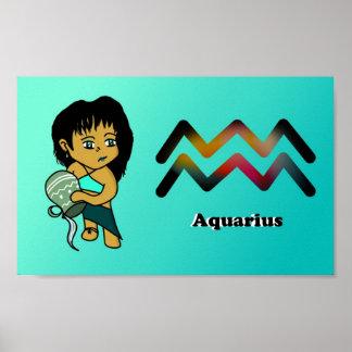 Aquarius chibi poster
