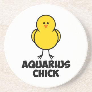 Aquarius Chick Drink Coaster