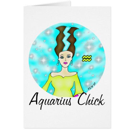 Aquarius Chick Greeting Card
