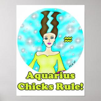 Aquarius Chicks Rule! Print