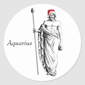 Aquarius Christmas Stickers