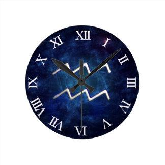 Aquarius Round Wall Clock