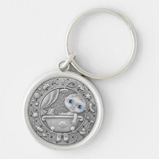 Aquarius Coin key chain