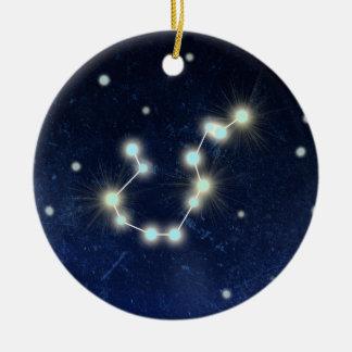 Aquarius Constellation | Custom Name Ceramic Ornament