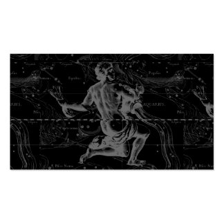 Aquarius Constellation Hevelius 1690 Jan 20 Feb 18 Double-Sided Standard Business Cards (Pack Of 100)