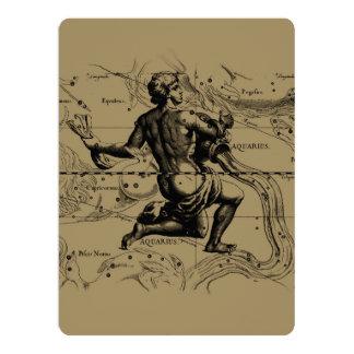 Aquarius Constellation Hevelius 1690 Jan 20 Feb 18 Card