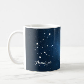 Aquarius Constellation Zodiac Star Sign Coffee Mug