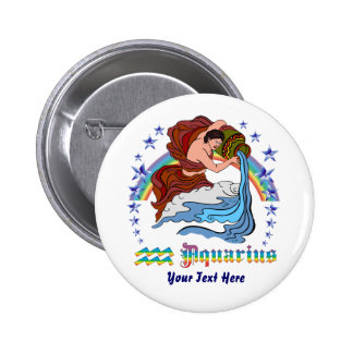 Aquarius Design-3 Colossal, Standard, 2¼ InchOnly Pinback Button