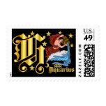 Aquarius-Design Font-2-H Postage Stamp