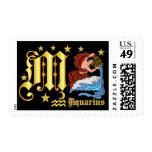 Aquarius-Design Font-2-M Stamp