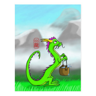 Aquarius/Dragon Postcard