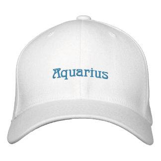 AQUARIUS EMBROIDERED BASEBALL HAT