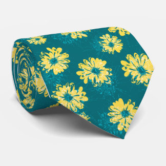 Aquarius Floral Vintage Single-side Printed Neck Tie
