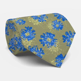 Aquarius Floral Vintage Two-sided Tie