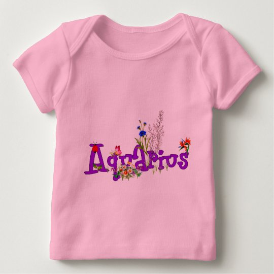 Aquarius Flowers Baby T-Shirt