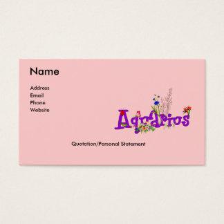 Aquarius Flowers Business Card