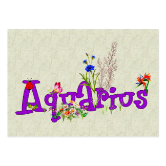 Aquarius Flowers Large Business Cards (Pack Of 100)