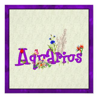 Aquarius Flowers Card