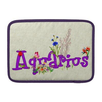 Aquarius Flowers MacBook Air Sleeves