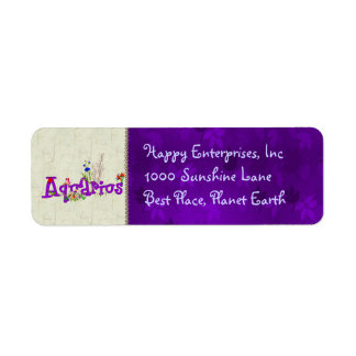 Aquarius Flowers Label