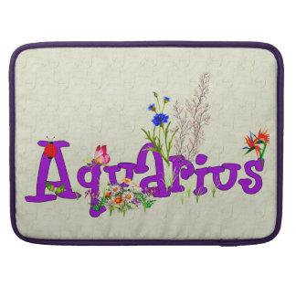 Aquarius Flowers MacBook Pro Sleeves