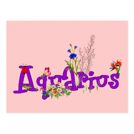 Aquarius Flowers Postcards
