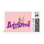 Aquarius Flowers Stamp