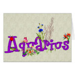 Aquarius Flowers Stationery Note Card