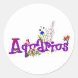 Aquarius Flowers Stickers