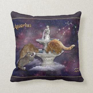 Aquarius for Cat Lovers Throw Pillow