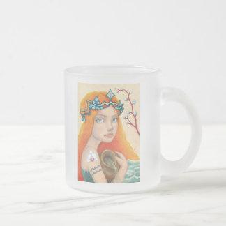 Aquarius Girl Frosted Glass Coffee Mug